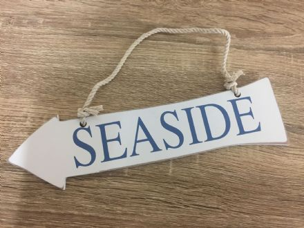 Hanging Wooden SEASIDE Arrow Nautical Decor